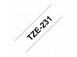 BROTHER trak PT TZE231 bel/črn 12mm