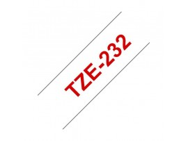 BROTHER trak PT TZE232 bel/rdeč 12mm