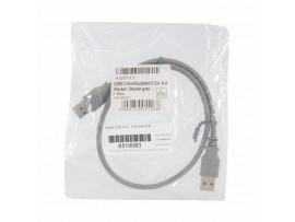 Kabel USB A-A   0,5m EFB siv