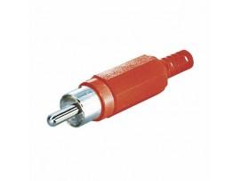 Konektor RCA M rdeč