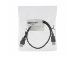 Podaljšek USB A-A  0,5m EFB črn dvojno oklopljen