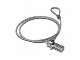 Zaščita s ključavnico Ednet numerična za prenosnike srebrna 1,5m