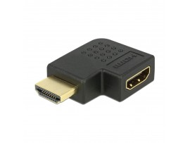 Adapter HDMI M - HDMI Ž 19-pin kotni levi Delock