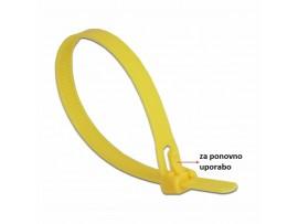 Vezice 200 x 7,5mm rumene za večkratno uporabo (pak/100) Delock