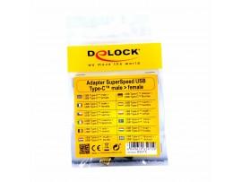 Adapter USB C 3.1 Gen 2 M - USB C Ž kotni-horiz. Delock