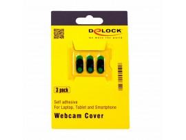 Zaščitni pokrovček univerzalni za spletne kamere (set/3kos) Delock