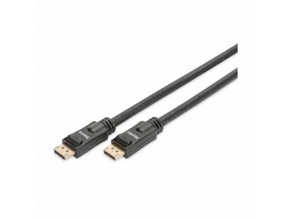 DisplayPort kabel z ojačevalcem 20m 4K 60Hz Digitus črn