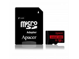 Pomnilniška kartica microSD XC  64GB APACER UHS-I U1 R85 Class 10 + adapter
