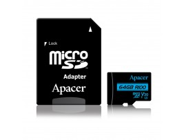 Pomnilniška kartica microSD XC  64GB APACER UHS-I U3 V30 R100 Class 10