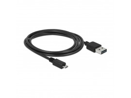 Kabel USB A-B mikro EASY  2m obojestranski Delock