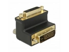 Adapter DVI 24+1 - DVI 24+5 kotni 90° Delock