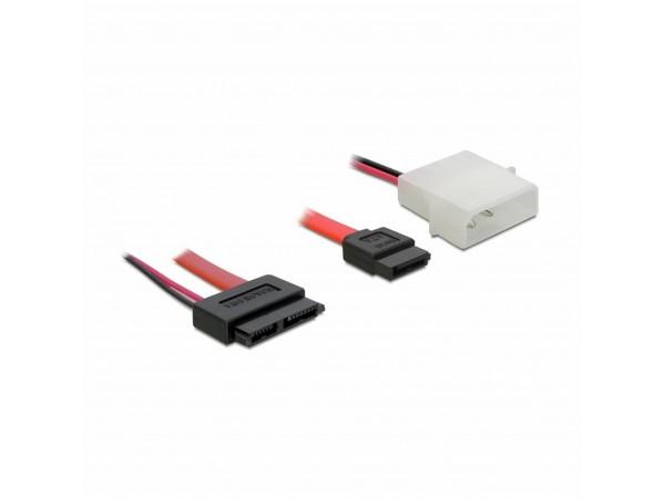 Kabel SATA Slim - SATA 7-pin + napajanje 30cm Delock