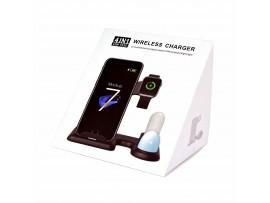 QI brezžični hitri polnilec za Apple 4v1 C356 črn 10W Rikomagic