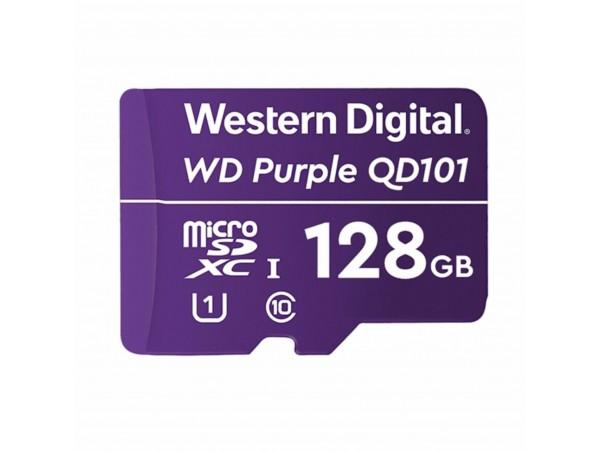 Pomnilniška kartica microSD XC  128GB WD PURPLE QD101