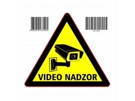 """Nalepka trikotna """"VIDEONADZOR"""" A5 (145x145)"""